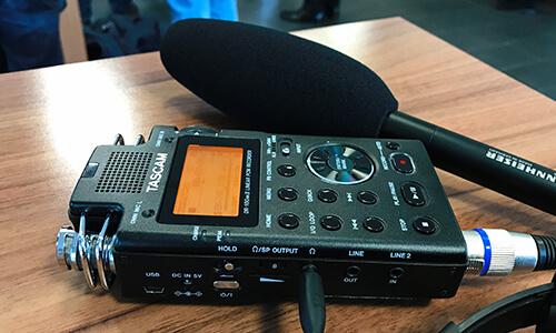 Tascam Recorder von Podcast-Macher